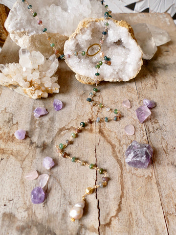 Handmade Lariat Necklace at The Scarab