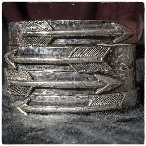 Stacking Arrow Cuffs | Sterling Silver | Richard Schmidt Jewelry