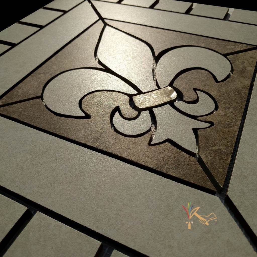 18 Fleur De Lis Ceramic Backsplash Mural Tile Floor Medallion