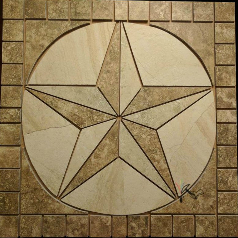 Made-to-Order (Allow 2 to 3 weeks): Porcelain Tile Texas Star ...