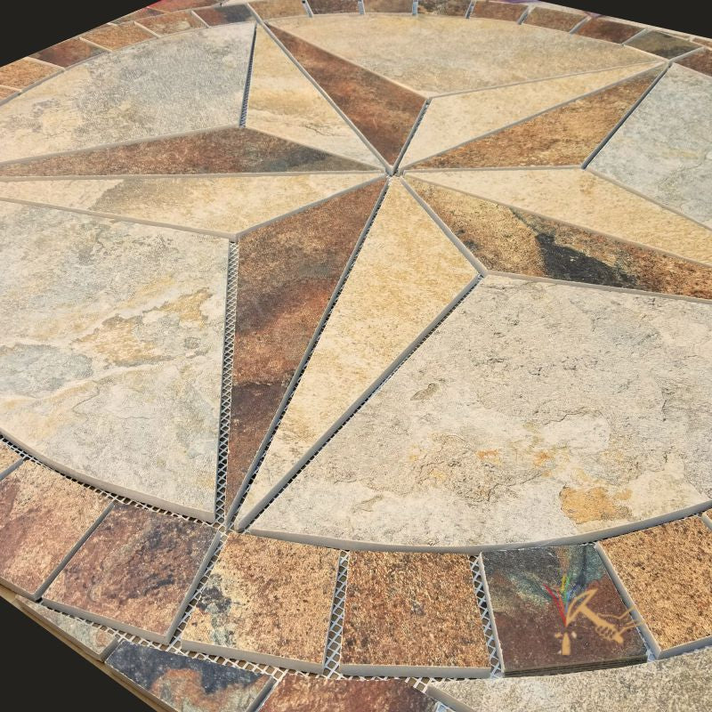 Texas Star Floor Medallion Customized With Your Choice Of Tile