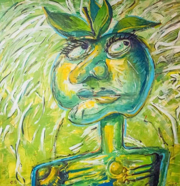 Pat Green's Angry Apple 36x36