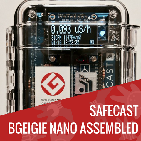 Safecast bGeigie Nano - Mobile Radiation Monitoring Device - KitHub Shop