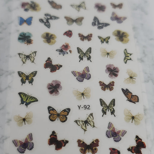 Butterfly Nail Decal - Y-92
