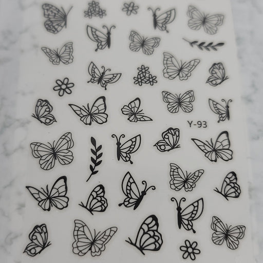 Butterfly Nail Decal - Y-93