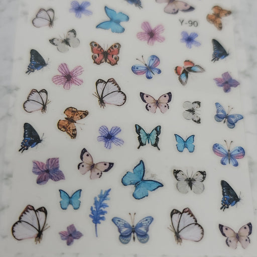 Butterfly Nail Decal - Y-90