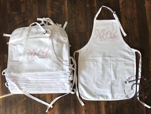 thePINKchair Apron - White - swag