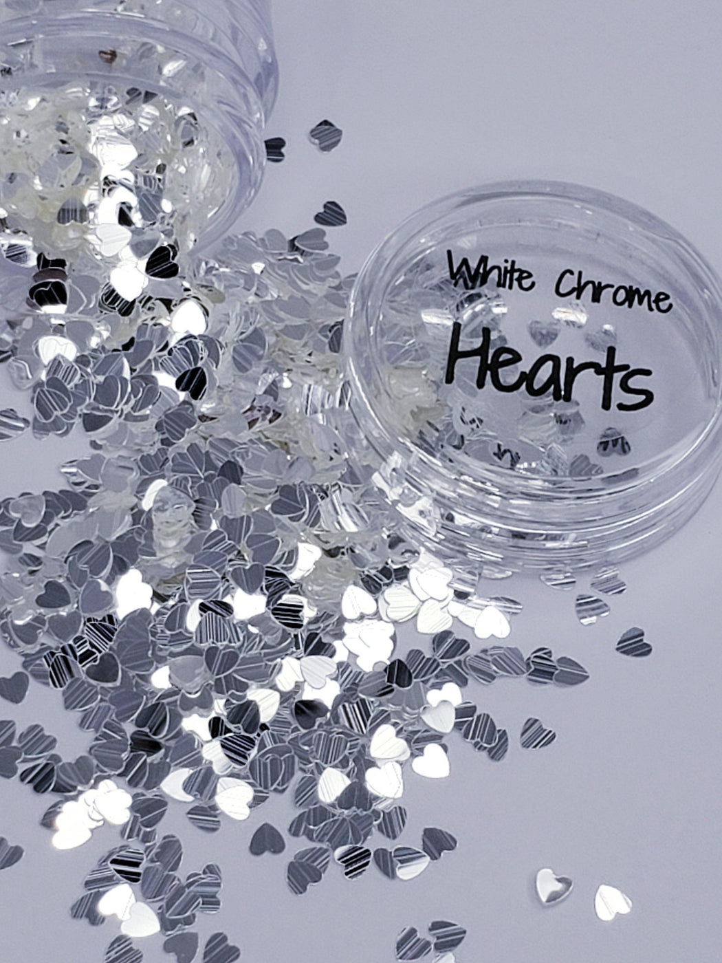 White Chrome Hearts (139) - Glitter