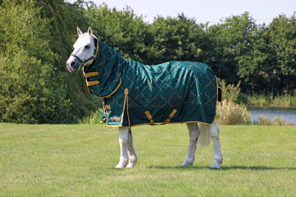 StormX Original Elegant Stirrup and Bit  200g Combi Turnout Rug