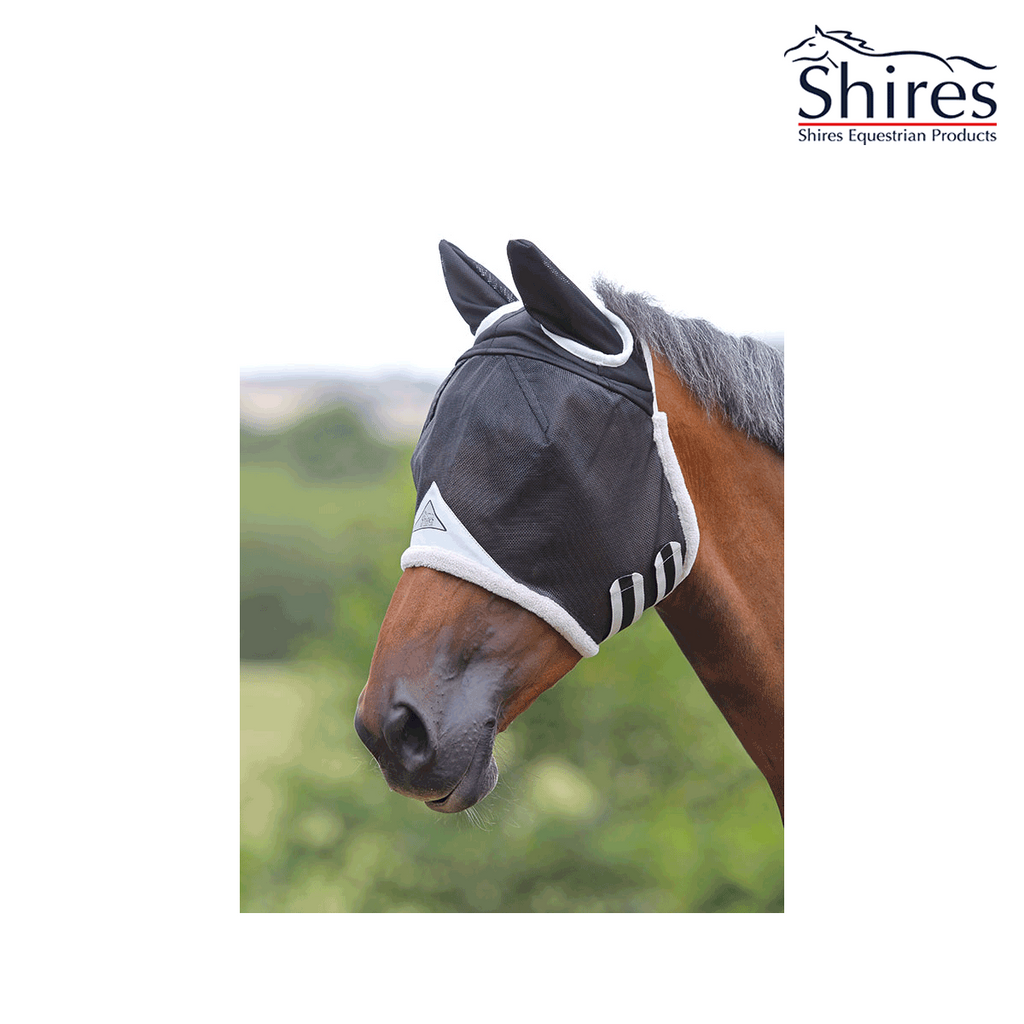 shires fly mask 6668 with free bag of 4kg treats worth £7.99