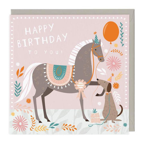 Happy Birthday to you Horse & Dog