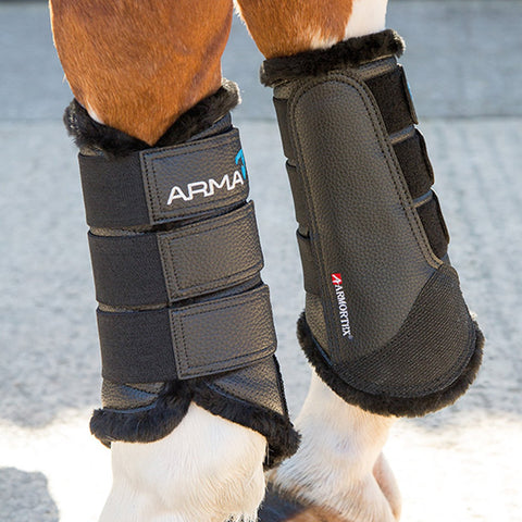 shires arma fur lined brushing boots black 1897