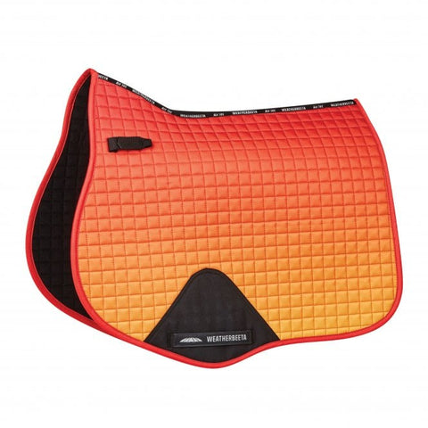 weatherbeeta prime ombre all purpose saddle pad autumn glow full size