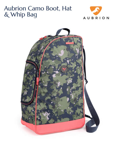 7725 Aubrion Camo Boot, Hat & Whip Bag