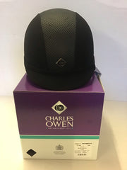 charles owen ayr8 ROUND FIT black, black harness size 7 1/4 59Rcm  rrp £228.50 our price £84.99 trade sale ( all sales are final )