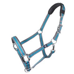 mark todd deluxe padded headcollar and leadrope set anthracite petrol