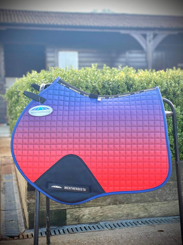 weatherbeeta prime ombre jump shaped saddle pad stormy sky full or pony size