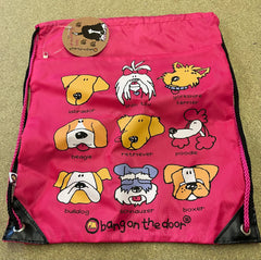 Dog print drawstring bag only £1 each
