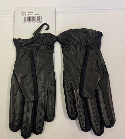 Basix black leather Gloves only £3.99 each rrp £14.99