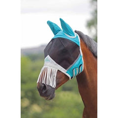 6664 fine mesh fly mask with nose fringe