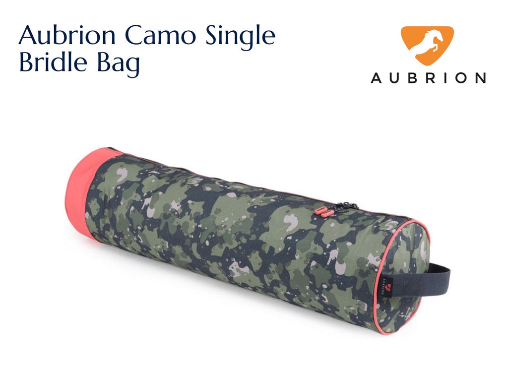 7721 Aubrion Camo Single Bridle Bag