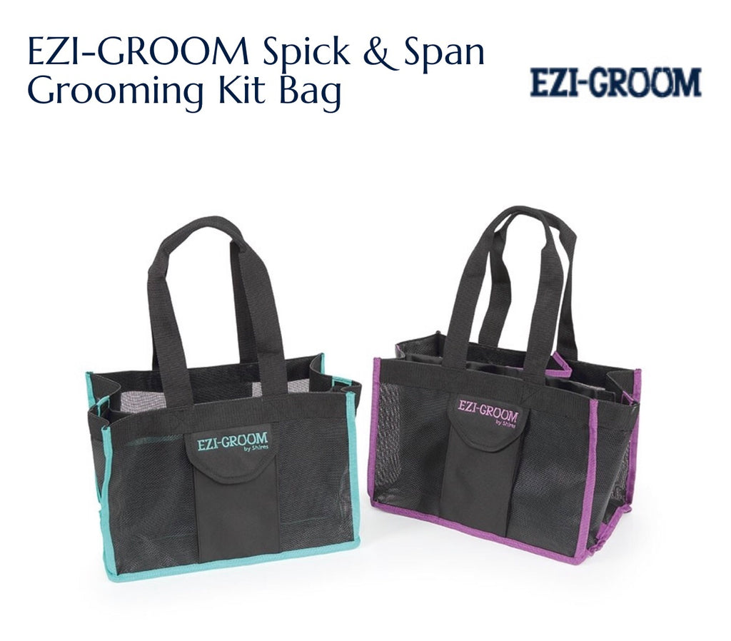 shires 1512 ezi groom spick and span grooming kit bag
