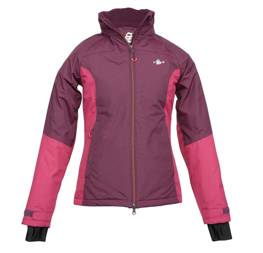 shires moscow ladies short field jacket plum waterproof 9925