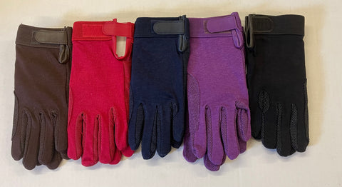 2 pairs for £1 adult cotton pimple gloves