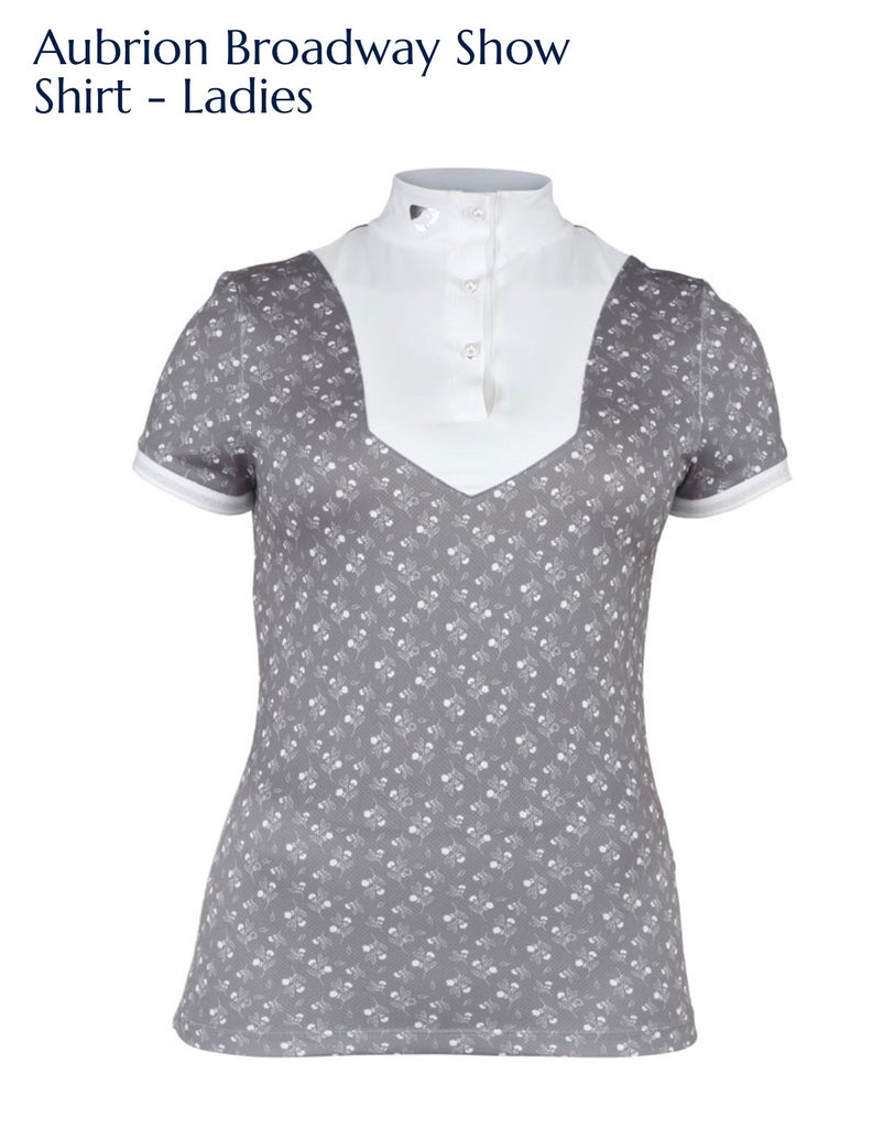 8200 Aubrion Broadway Show Shirt - Ladies grey floral
