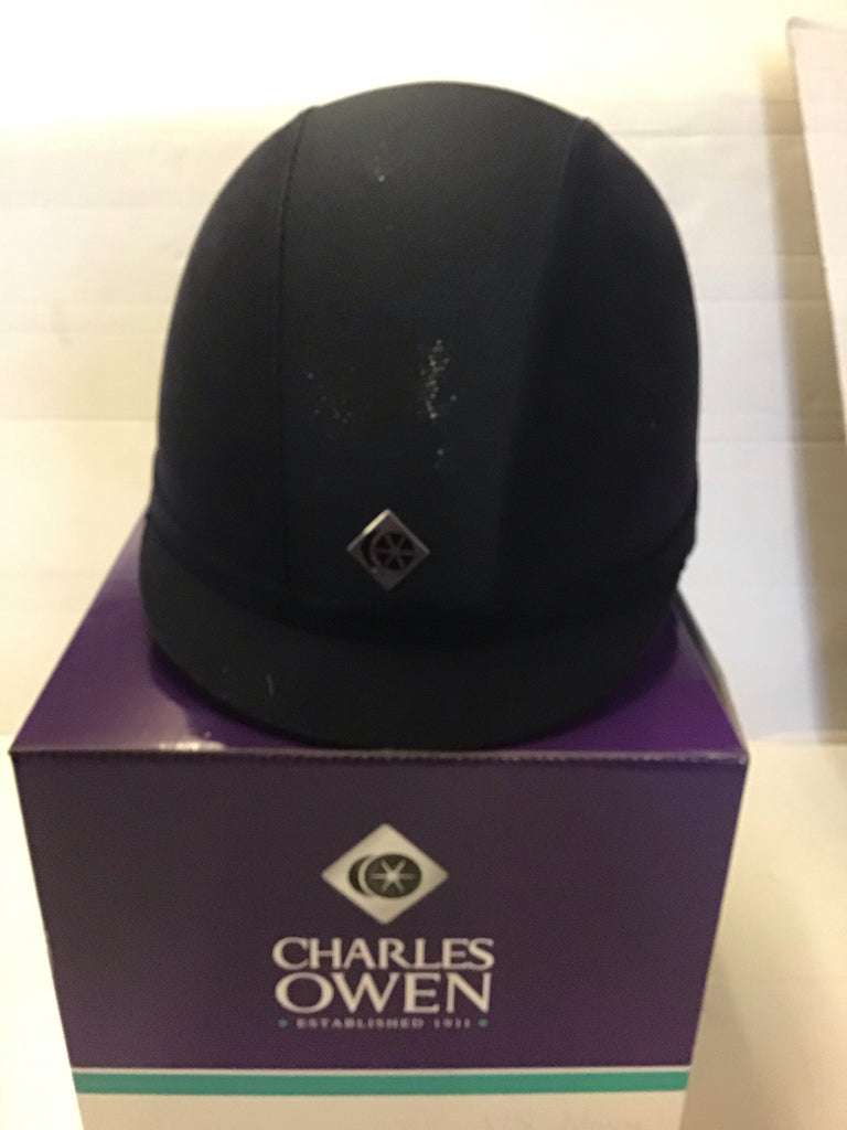 Charles Owen v8 navy only £100 size 7 1/4= 59cm  trade sale all sales are final