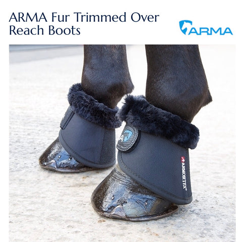 1892 ARMA Fur Trimmed Over Reach Boots black
