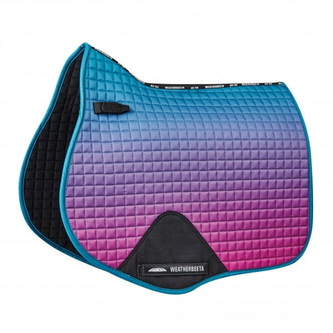 weatherbeeta prime ombre all purpose saddle pad midnight aurora full size
