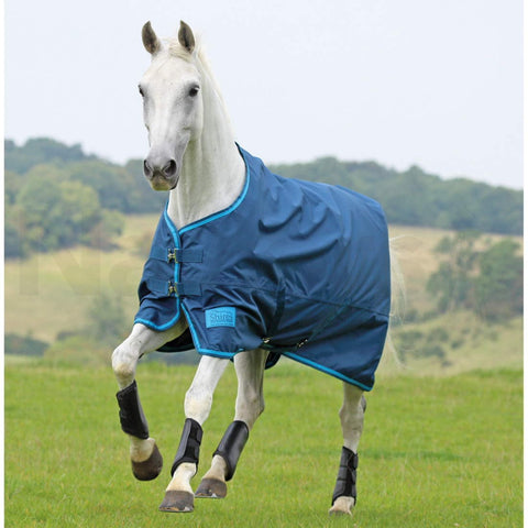 shires tempest lite turnout rug petrol blue only £24.99 rrp £39.99 limited numbers and sizes