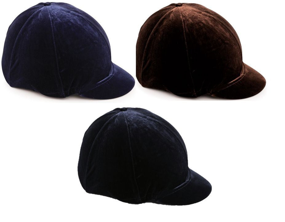 Shires Velveteen elasticated Hat Silk