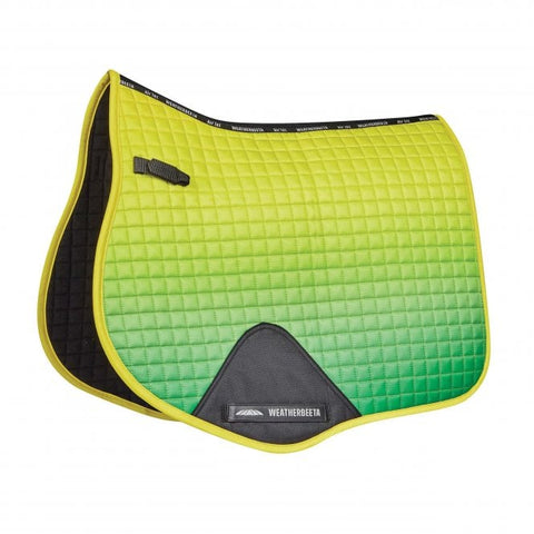weatherbeeta prime ombre all purpose saddle pad sunflower field full or pony size