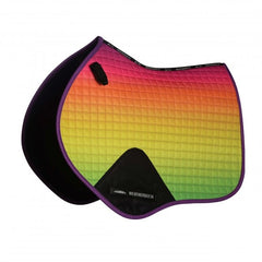 weatherbeeta prime ombre jump shaped saddle pad rainbow lust pony or full size