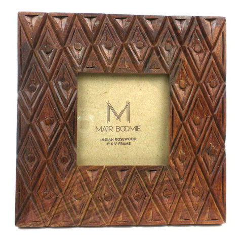 Indian Palace Rosewood Frame for 3X3 Photo - Matr Boomie (P)