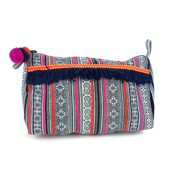 Hmong Batik Toiletry Bag Indigo - Global Groove (P)