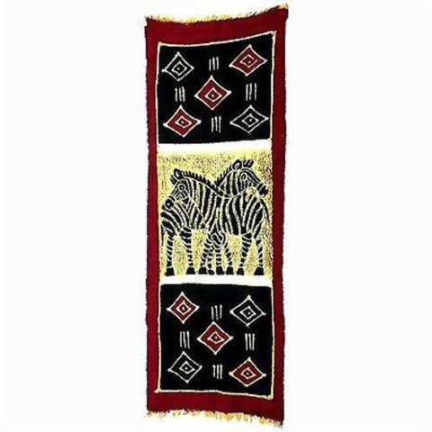Vertical Zebras with Diamonds Batik Handmade and Fair Trade