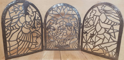 Haitian Metal Screen Nativity
