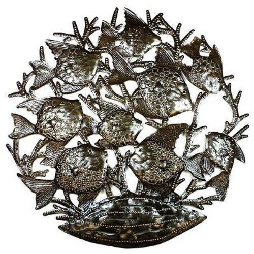 School of Fish - 24 Inch Metal Art Handmade and Fair Trade
