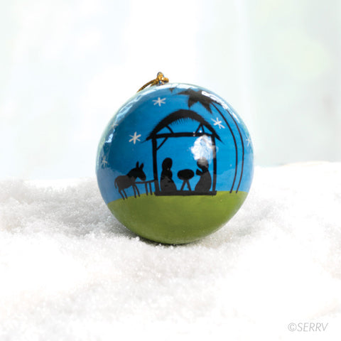 Moonlight Nativity Ornament