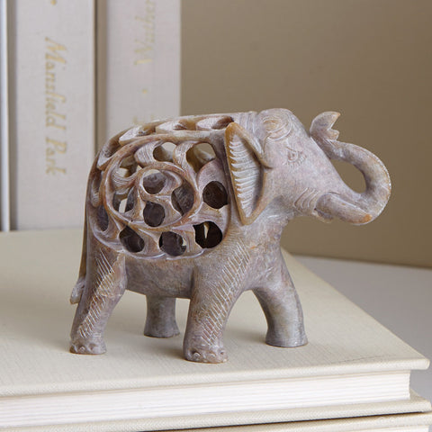 Double-Carved Elephant