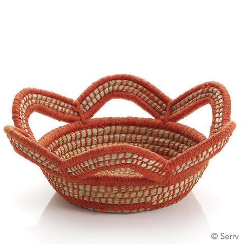 Tangerine Scalloped Basket