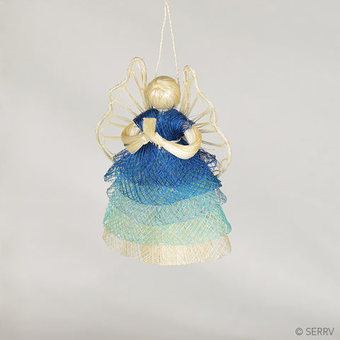 Blue Ombre Angels Ornament