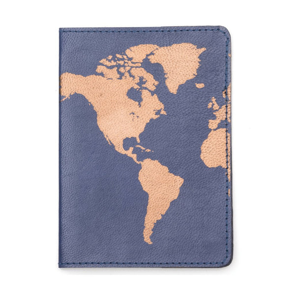 Globetrotter Leather Passport Cover - Blue - Matr Boomie (PC)