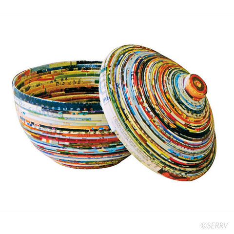 Recycled Paper Lidded Bowl