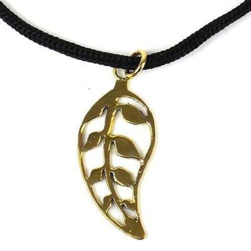Leaf Bomb Casing Pendant on Cord Handmade and Fair Trade