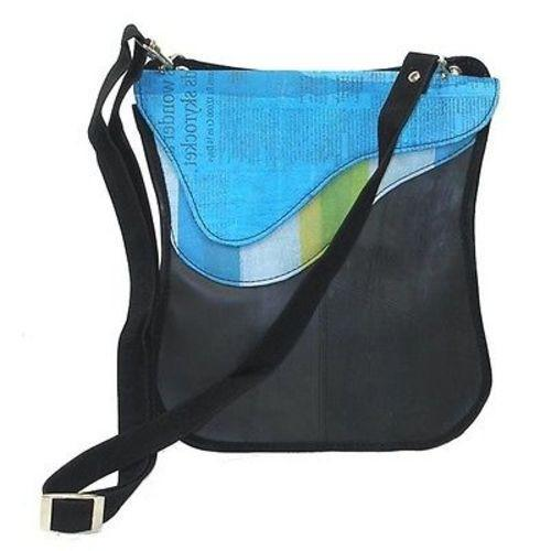 Upcycled 'Breeda New Wave' Bag - Conserve Handmade and Fair Trade