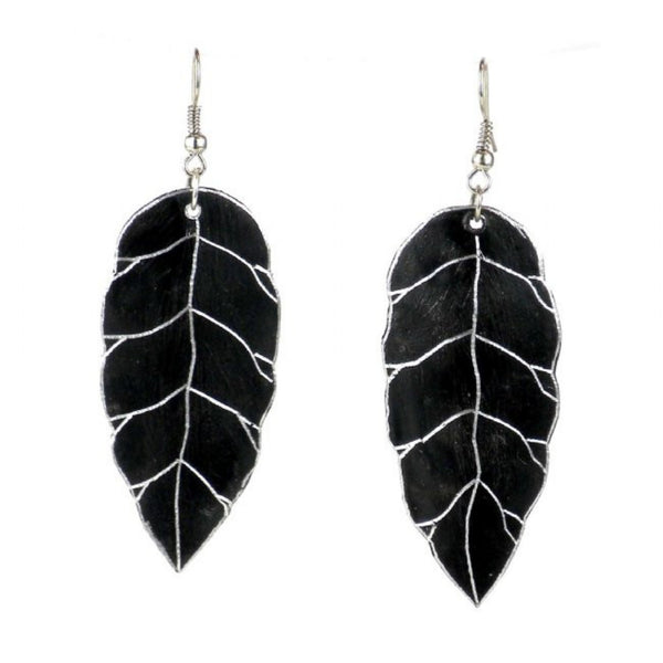 Recycled Pan Leaves Earrings